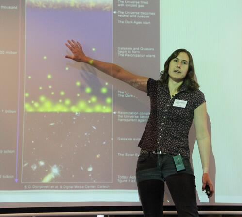 You put your right arm in, you take your right arm out, you put your right arm in and you give an awesome talk on what dark matter's all about...