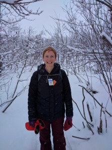 Dr. Holly Witteman enjoying a Canadian winter (C)