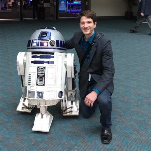 Caleb meeting R2D2 (C) Caleb Christianson